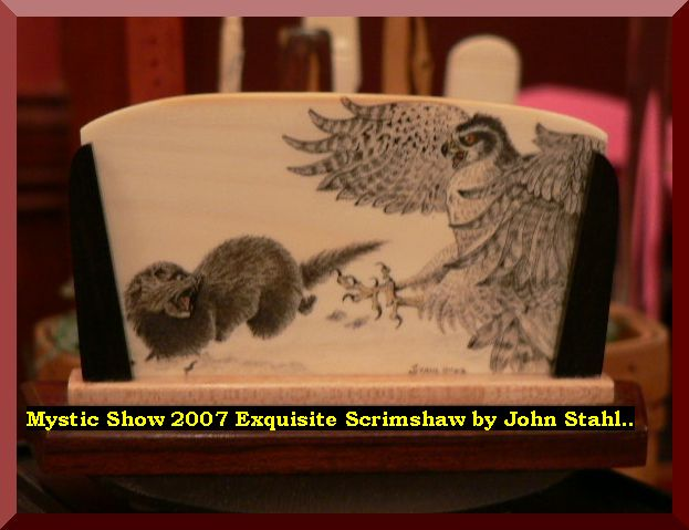 Mystic Show 2007 Exquisite Scrimshaw by John Stahl..