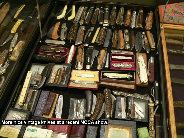 More nice vintage knives at a recent NCCA show.