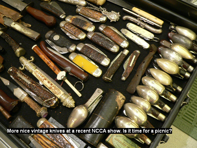 More nice vintage knives at a recent NCCA show. Is it time for a picnic?