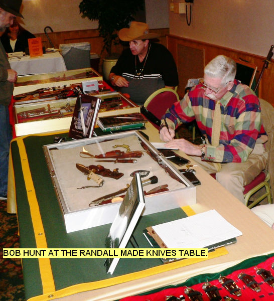 Bob Hunt at the Randall made Knives Table.