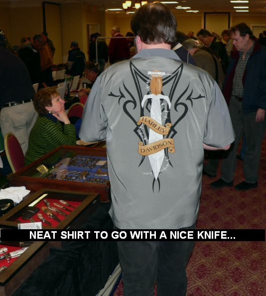 Neat shirt to go with a nice knife...