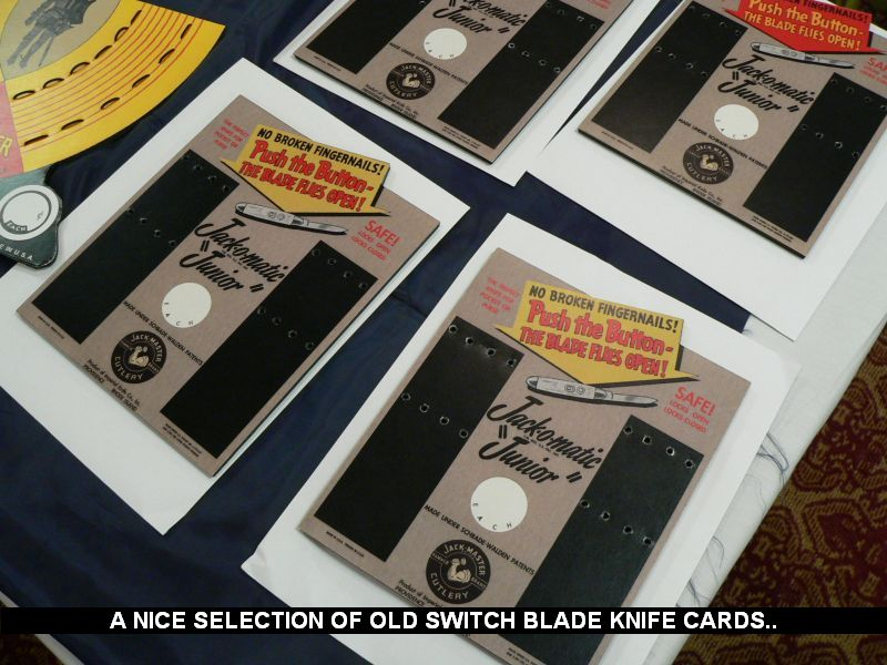 A nice selection of old switch blade knife cards...