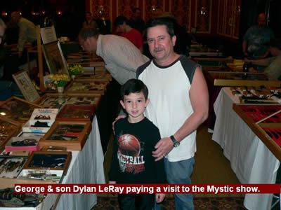 George & son Dylan LeRay paying a visit to the Mystic show.