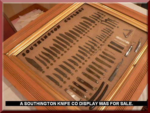 A SOUTHINGTON KNIFE CO DISPLAY WAS FOR SALE.