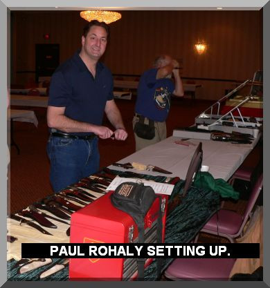 PAUL ROHALY SETTING UP.